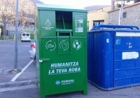 Nou contenidor de roba usada a Palau-saverdera. Conveni entre ajuntament i Humana